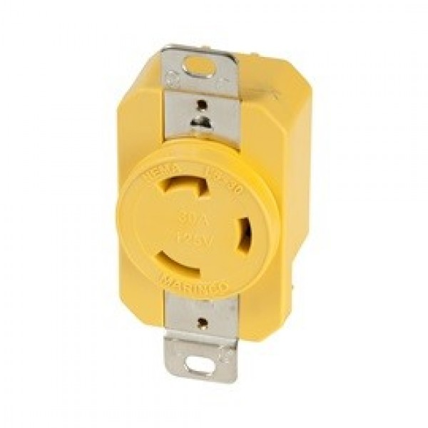 30A 125V Yellow Locking Receptacle Part # 305CRR