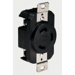 3 Wire 30A/125V Black Locking Receptacle Part # 305CRRB