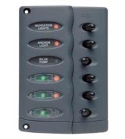 Contour Switch Panel, Waterproof 6 Way with Fuse Holder Part # CSP6-F