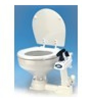 Manual 'Twist n' Lock' toilet, compact bowl