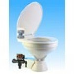 QUIET FLUSH ELECTRIC TOILET Fresh water flush models, Regular bowl size, 24 volt dc